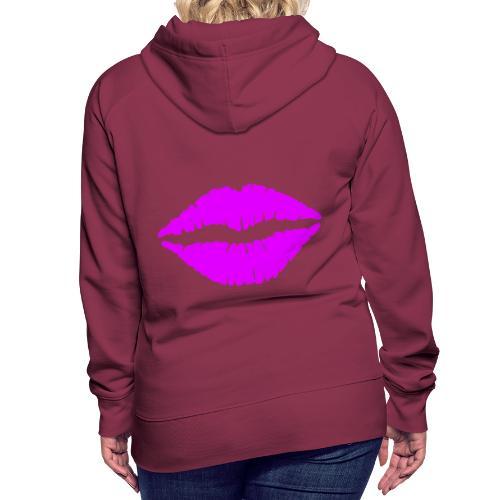 mund Lipen hel violet - Frauen Premium Hoodie