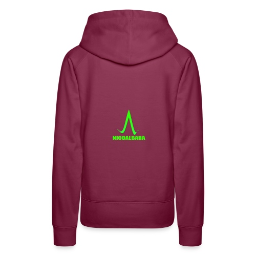 Logo Complet - Sweat-shirt à capuche Premium pour femmes