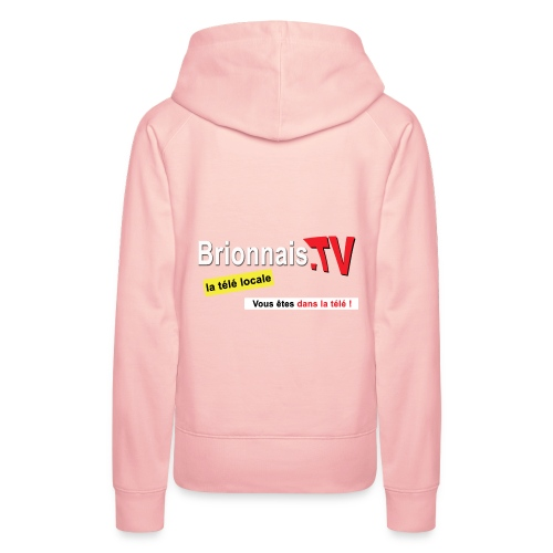 BTV logo shirt dos - Sweat-shirt à capuche Premium pour femmes