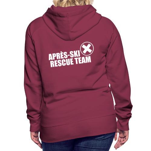 APRÈS SKI RESCUE TEAM 2 - Vrouwen Premium hoodie