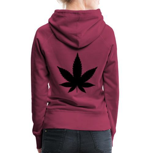 CannabisBlack - Frauen Premium Hoodie