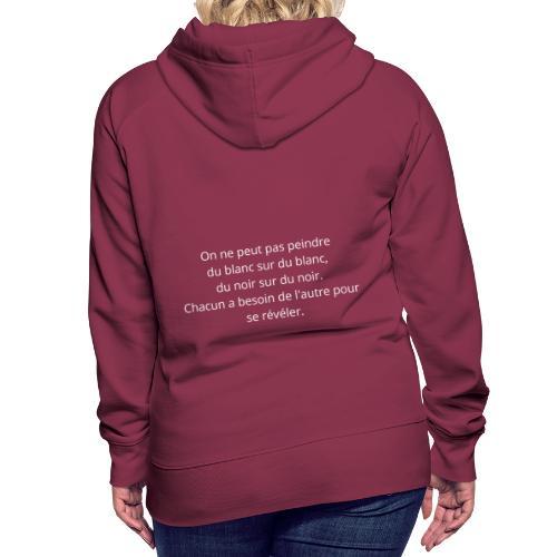 Proverbe n°2 - Sweat-shirt à capuche Premium pour femmes