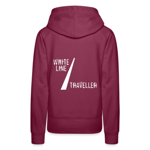 white line traveller - Vrouwen Premium hoodie