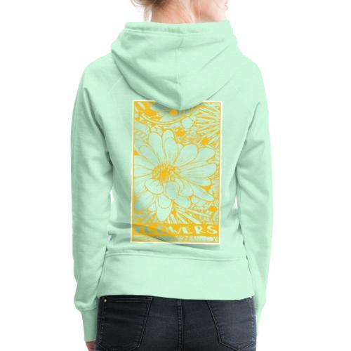 bloemen geel wit - Vrouwen Premium hoodie
