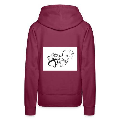 crazy squirrel of longueil - Sweat-shirt à capuche Premium pour femmes