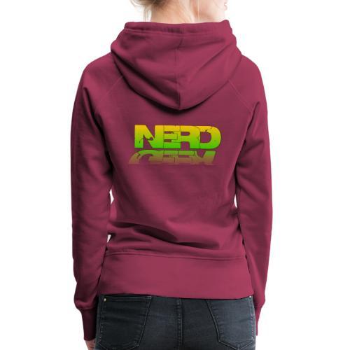 nerd geek - Sweat-shirt à capuche Premium pour femmes