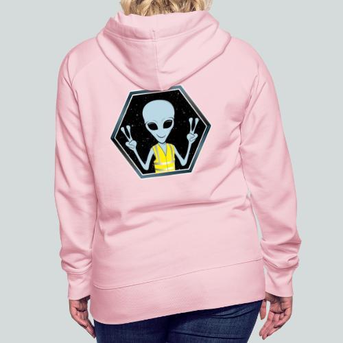 Extraterrestre Gilet jaune - Sweat-shirt à capuche Premium pour femmes