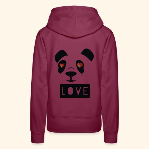 diseño Panda love - Sudadera con capucha premium para mujer