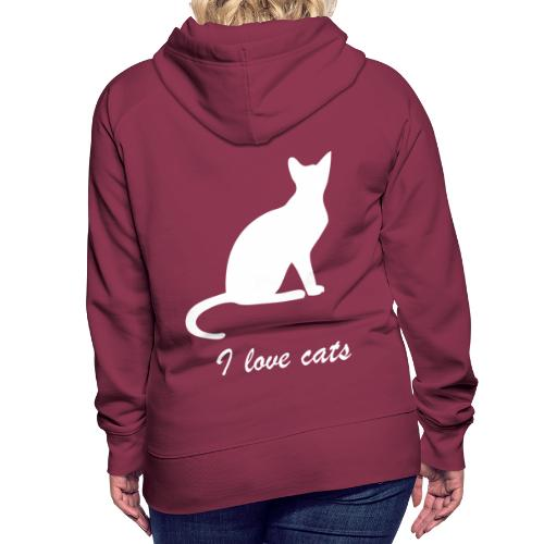 i love cats - Frauen Premium Hoodie