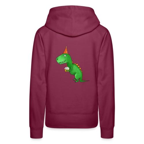 Dino mit Geburtstagskuchen - Frauen Premium Hoodie