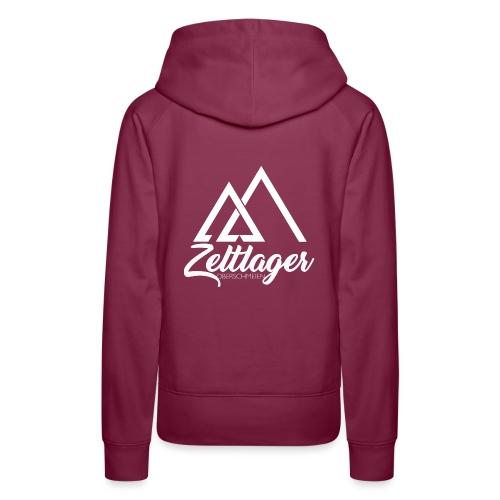Zeltlager Logo hinten weiß Edition - Frauen Premium Hoodie