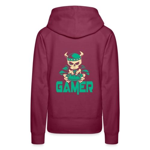gamer skelett wikinger - Frauen Premium Hoodie