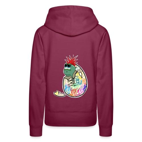 Punk Graffiti Bebe Schildkröte / Baby Dino Turtle - Frauen Premium Hoodie