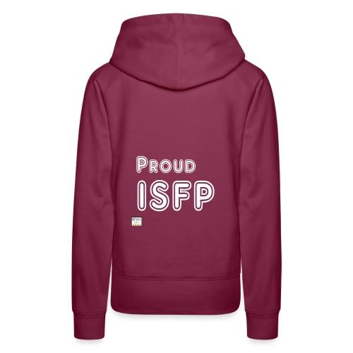 Proud ISFP (MBTI) blanc - Sweat-shirt à capuche Premium pour femmes