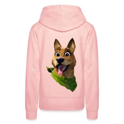 LOW POLY DOGO - Sweat-shirt à capuche Premium pour femmes