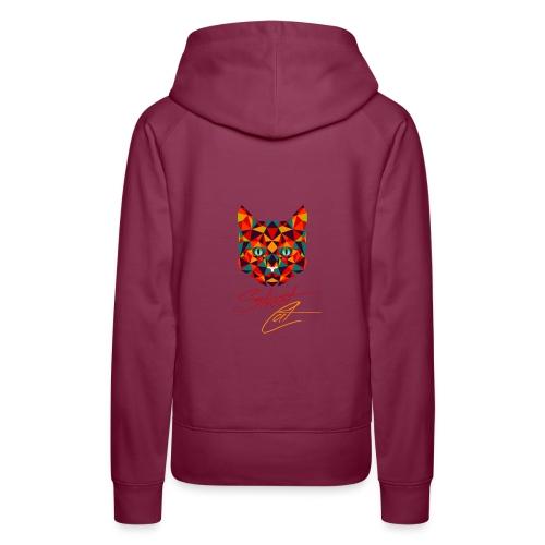 Straßen Cat (neumodisches Design) - Frauen Premium Hoodie