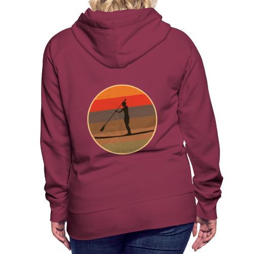 Stand up paddling (SUP) im Sonnenuntergang - Frauen Premium Hoodie