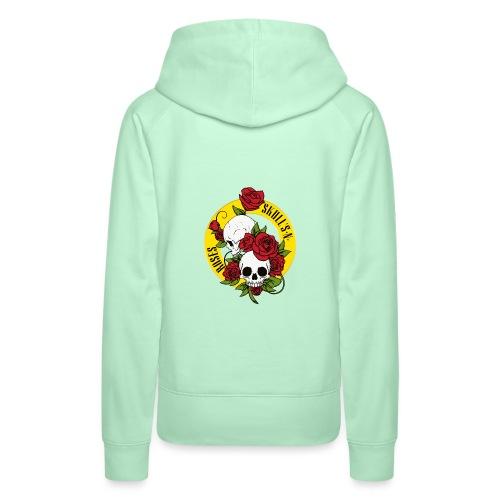 SKULL'S N ROSES - Sudadera con capucha premium para mujer