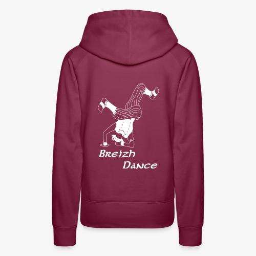 BZH Atypik Design - Breizh Dancer - Sweat-shirt à capuche Premium pour femmes