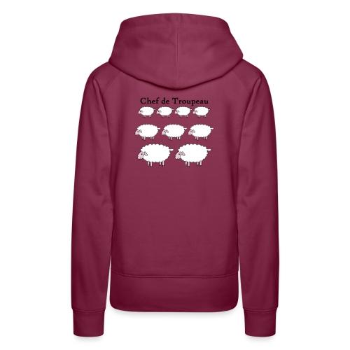 chef-de-troupeau - Sweat-shirt à capuche Premium pour femmes