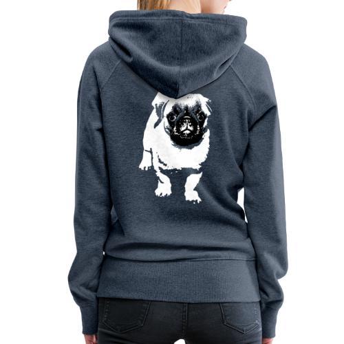 Mops Hund Hunde Möpse Geschenk - Frauen Premium Hoodie