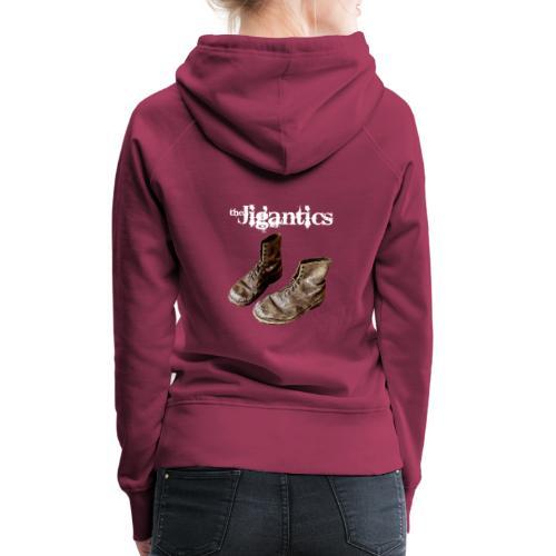 The Jigantics boot logo - white - Women's Premium Hoodie