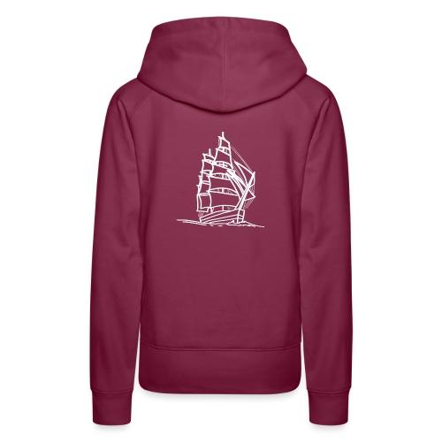 Segelschiff Illustration Meer Schiff Bootsfahrt - Frauen Premium Hoodie
