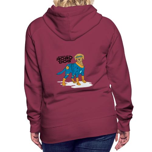 Robo dog Blau/Gold - Frauen Premium Hoodie