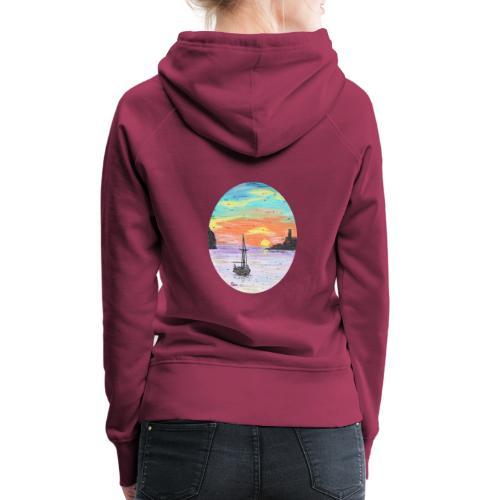 Port de Sollers Sonnenuntergang - Frauen Premium Hoodie