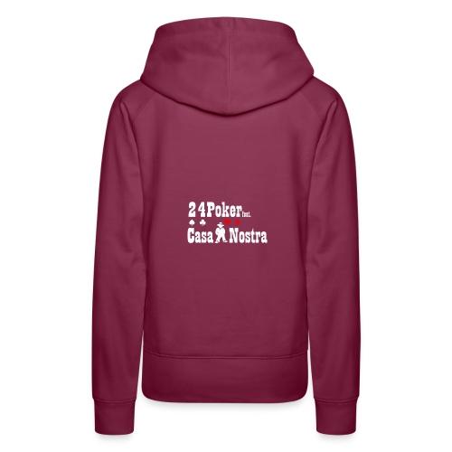 nur logo white 01 - Frauen Premium Hoodie