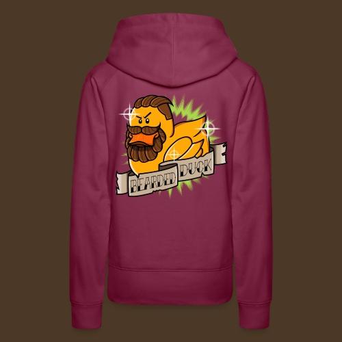Bearded Duck - Sweat-shirt à capuche Premium pour femmes