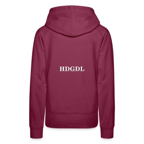 HDGDL weiss - Frauen Premium Hoodie