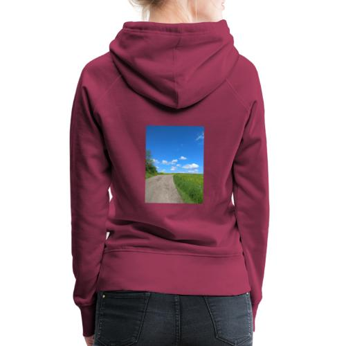 Landschaft Weg Himmel Geschenidee - Frauen Premium Hoodie