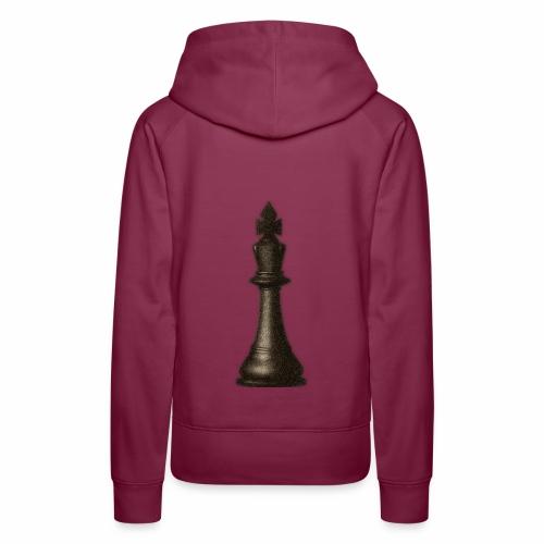 King / Queen chess logo premium wear - Frauen Premium Hoodie