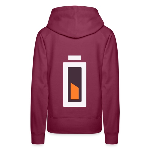 Batterie - En charge... - Sweat-shirt à capuche Premium pour femmes