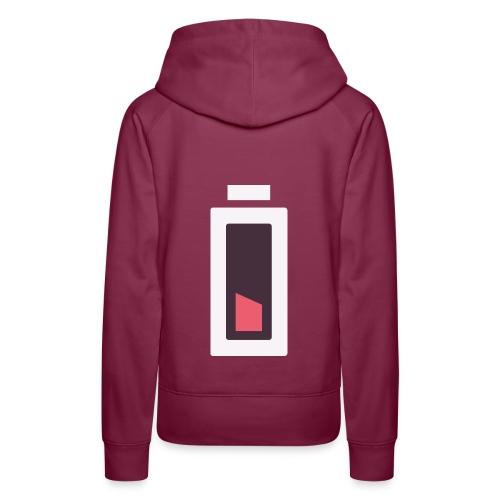 Batterie - Plus d'énergie... - Sweat-shirt à capuche Premium pour femmes