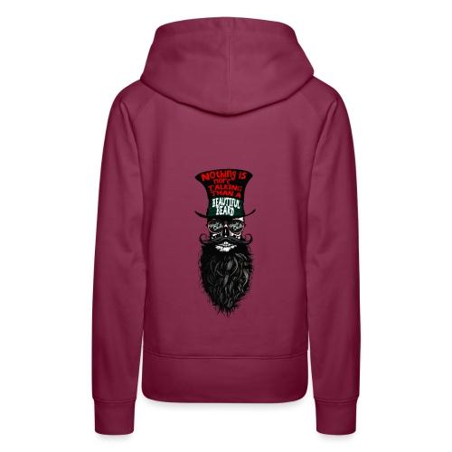 tete de mort hipster chapeau crane skull citation - Sweat-shirt à capuche Premium pour femmes