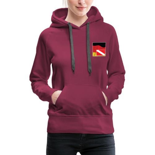 Tauchrevier Deutschland newStyle komplett - Frauen Premium Hoodie