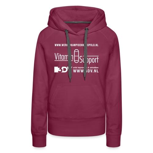 Keistad logos achterkant 2 png - Vrouwen Premium hoodie