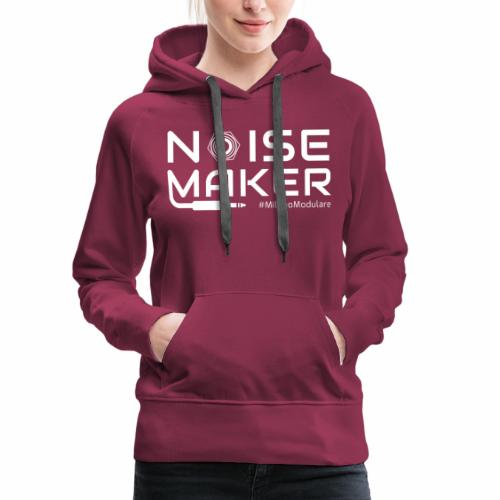 grafica noise maker - Felpa con cappuccio premium da donna