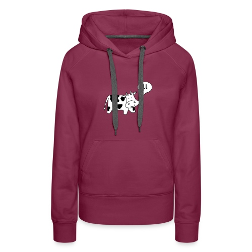 The Cow says Mu - Women's Premium Hoodie