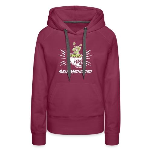 t shirt 2 kleuren wit gro - Vrouwen Premium hoodie