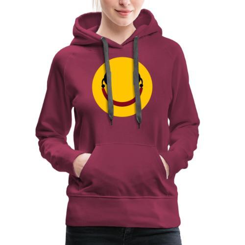 Smiling headphone - Dame Premium hættetrøje