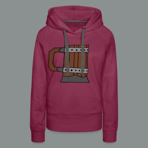 chope, peinte, bière, taverne, geek, jeu de rôle - Sweat-shirt à capuche Premium pour femmes
