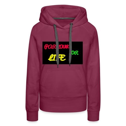 Parkour for Life graffiti merchandise - Women's Premium Hoodie