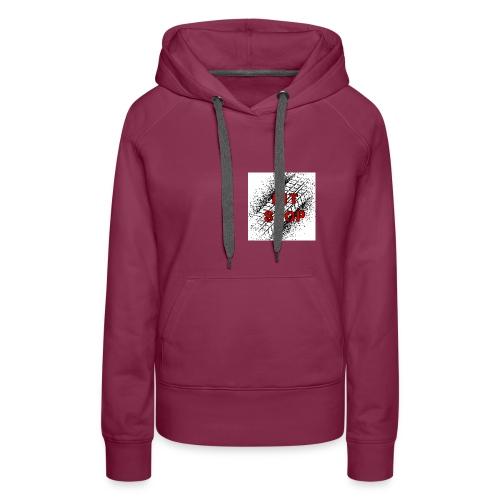 Logo grande - Sudadera con capucha premium para mujer