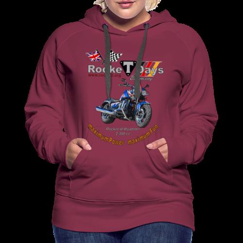 Rocketdays Rocket III Roadster blau rot - Frauen Premium Hoodie