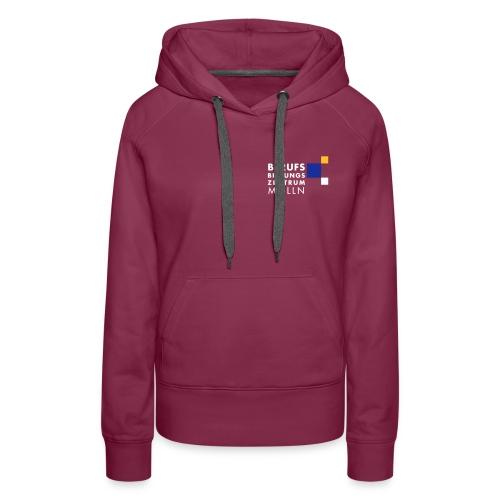 BBZ Logo weisse Schrift Schulkleidung.eps - Frauen Premium Hoodie