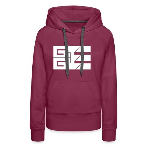 GGE Logo Weiss - Frauen Premium Hoodie
