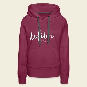 Logo Kolibri Design weiss - Frauen Premium Hoodie